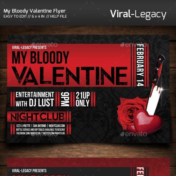 My Bloody Valentine Flyer