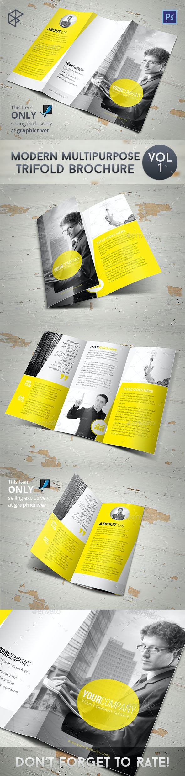 Modern Multipurpose Trifold Brochure - Corporate Brochures