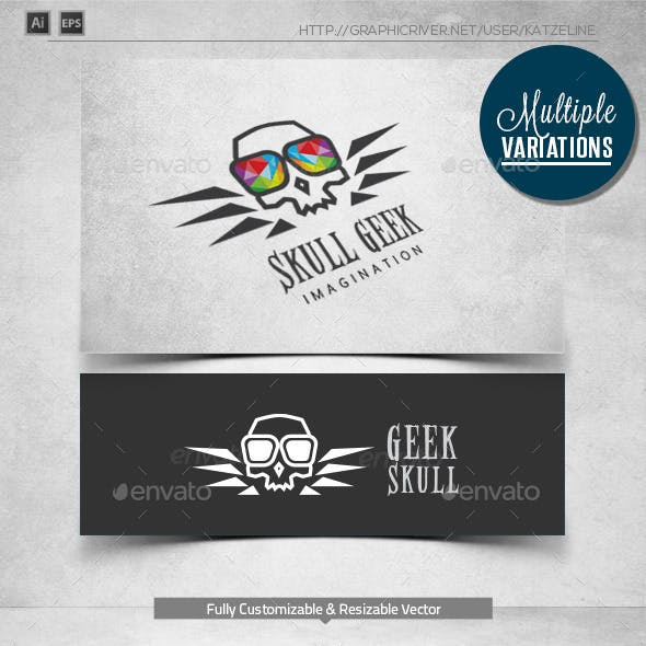 Skull Geek - Logo Template