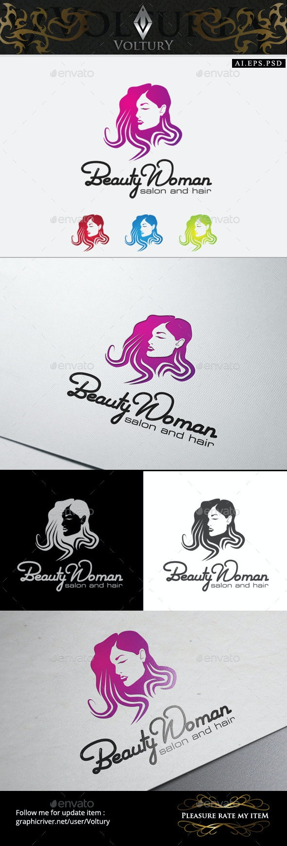 Salon Spa Logo - Humans Logo Templates