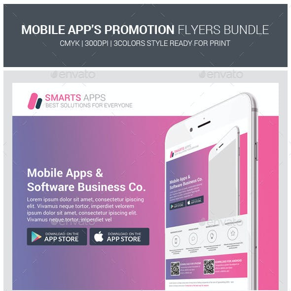 Mobile Apps Promotion Flyers Bundle