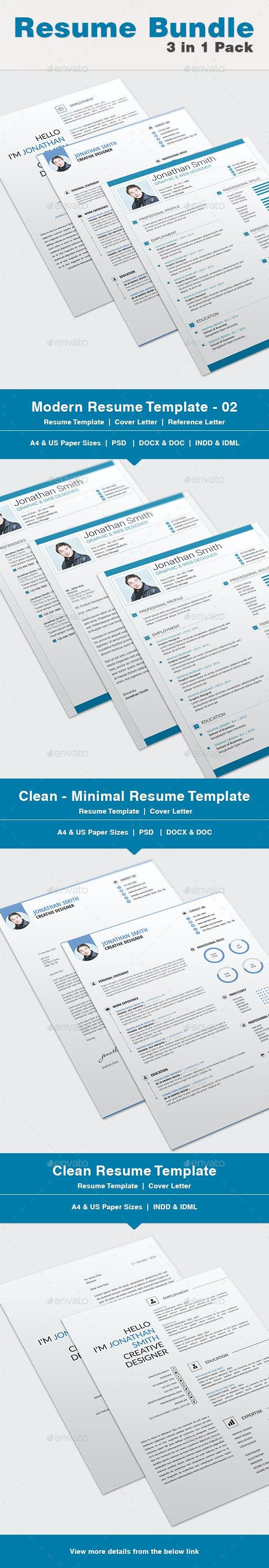 Resume Bundle - 02 - Resumes Stationery