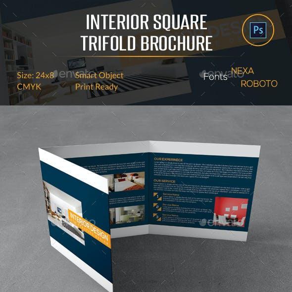 Interior Square Trifold Brochure
