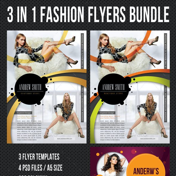 3 in 1 Fashion Product Flyer Bundle 21