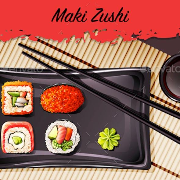 Maki-Zushi Sushi Roll Set