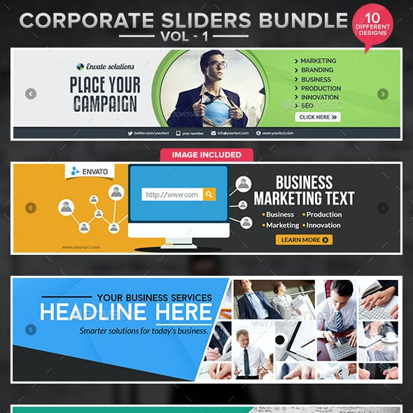 Corporate Slider Bundle - 10 designs