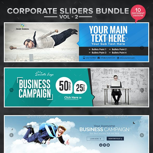 Corporate Slider Bundle - Vol 2 - 10 designs