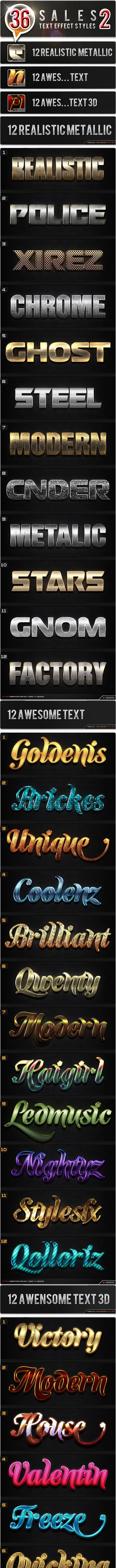 36 Sales 2 Bundle - Text Effects Styles