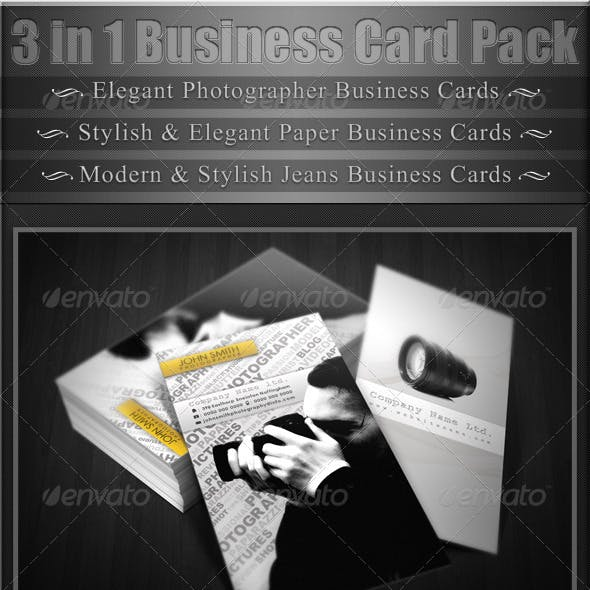 3 in 1 Business Cards Pack