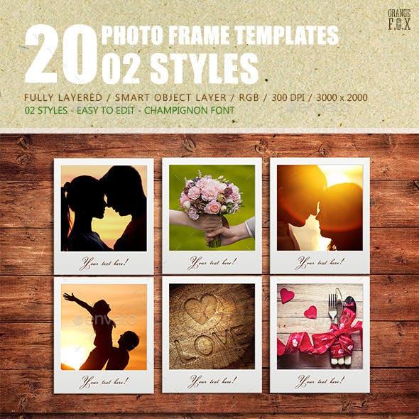20 Photo Frame Templates - 02 Styles