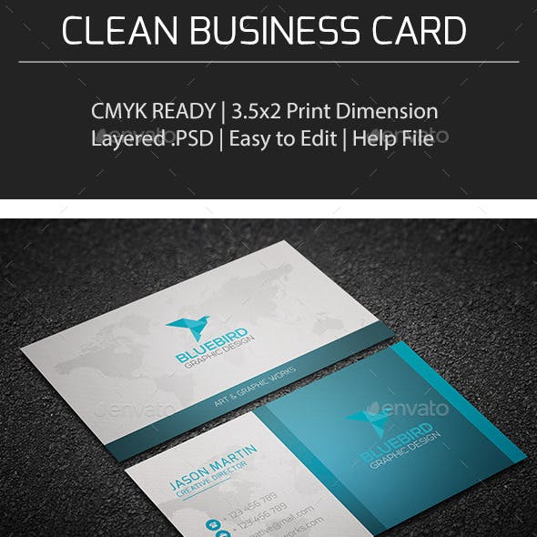 Clean Business Card V0158