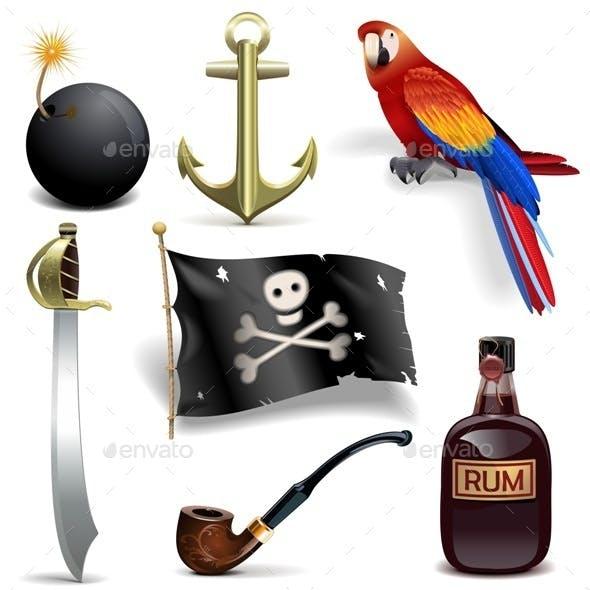 Pirate Icons Set 2