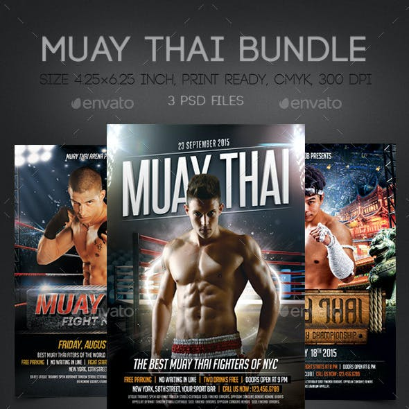 Muay Thai Flyers Bundle