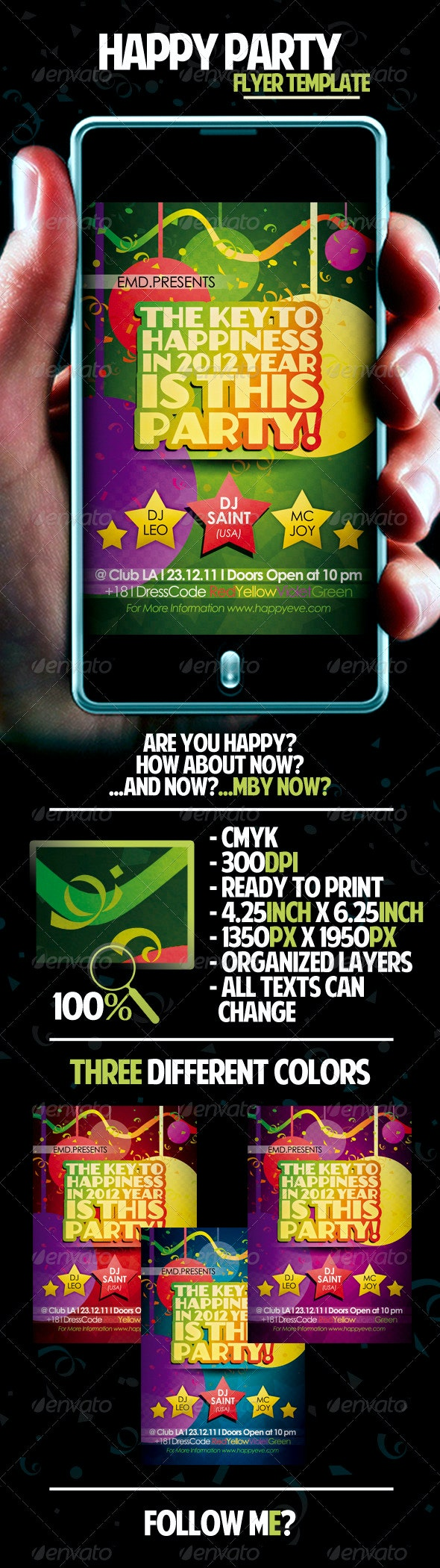 Happy Party Flyer Template - Clubs & Parties Events