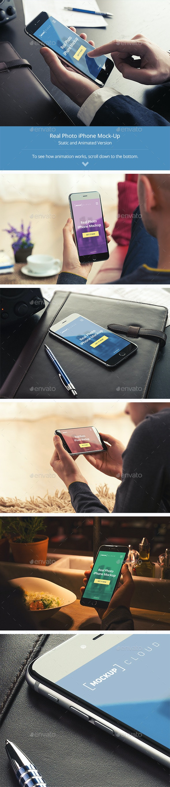 Animated Phone Mock-Up Templates - Mobile Displays