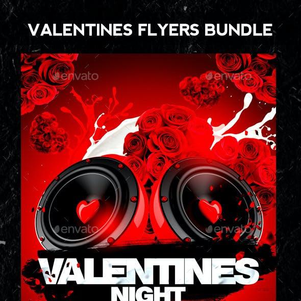 Valentines Flyers Bundle