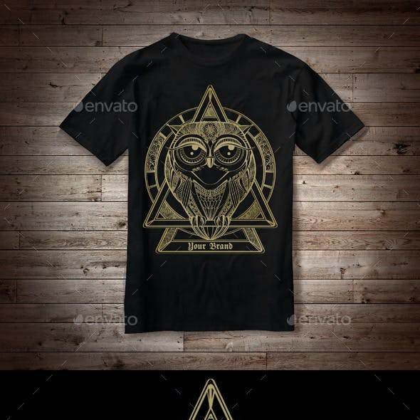 T-Shirt Illustration Owl Theme