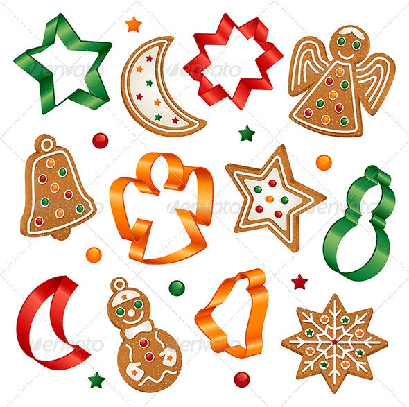 Christmas cookies and cookie cutters - Christmas Seasons/Holidays