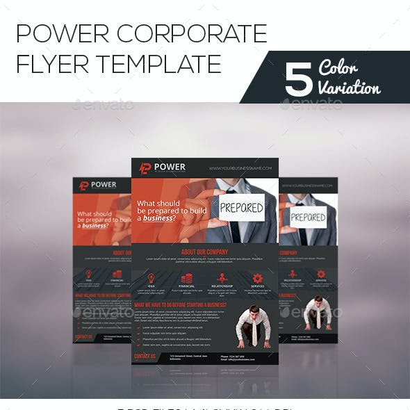 Power Corporate Flyer Template