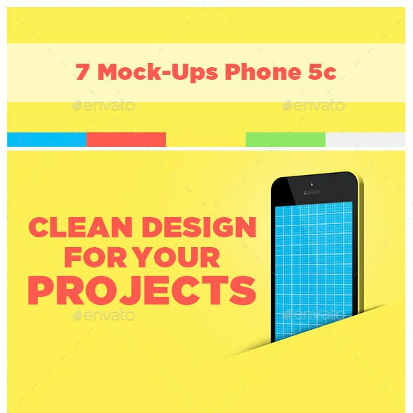 7 Mock-Ups iPhone 5c