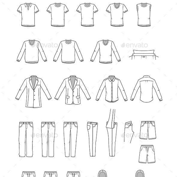 Garment Illustrations of Men's Clothes