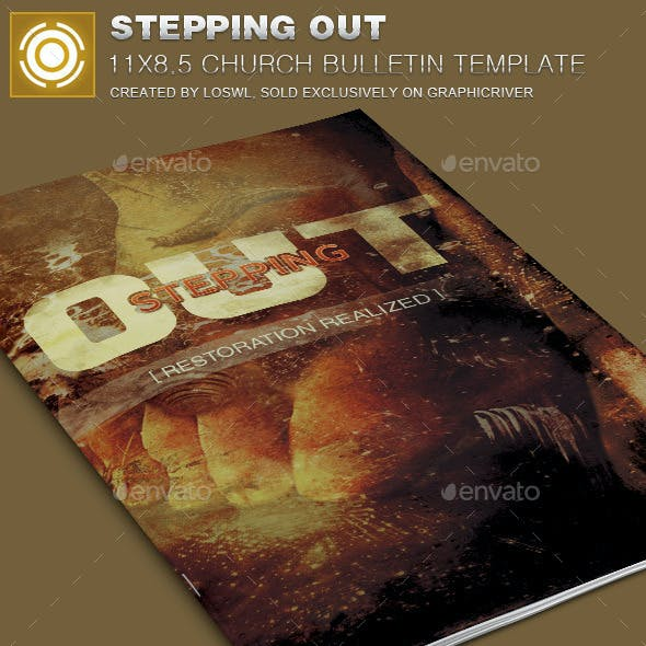 Stepping Out Church Bulletin Template