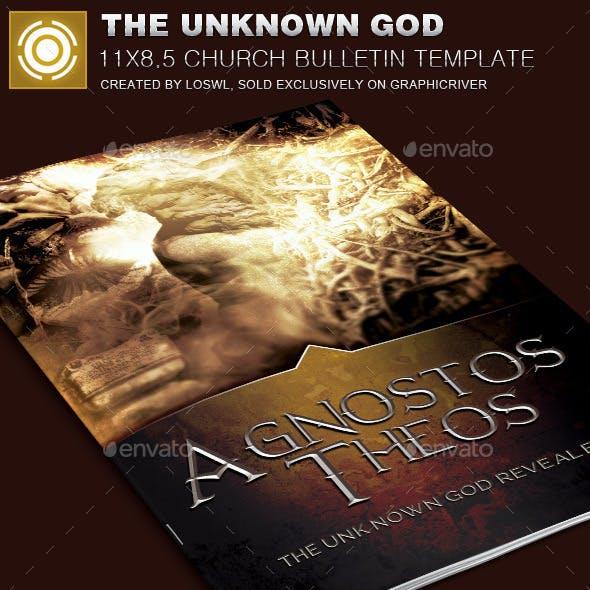 The Unknown God Church Bulletin Template