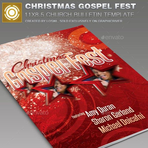 Christmas  Gospel Fest Church Bulletin Template