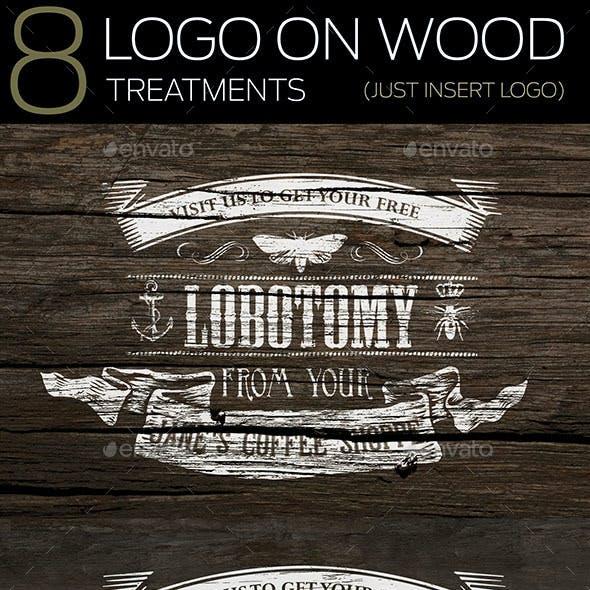 8 Logo On Wood Mockups
