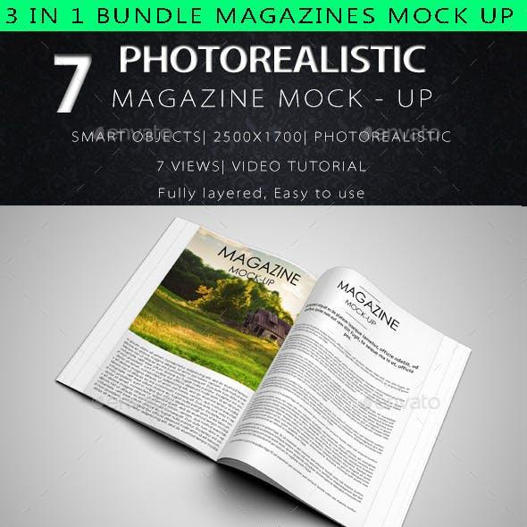 3 in 1 Bundle Magazine Mock Up