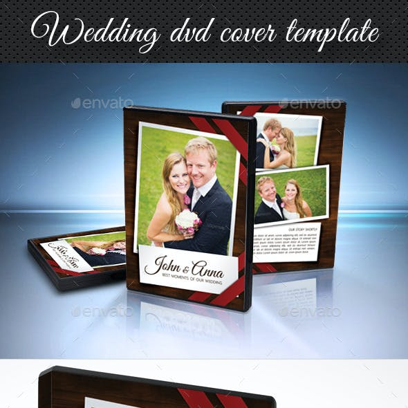 Wedding DVD Cover Template 10