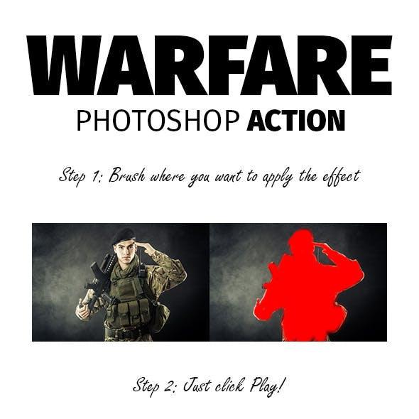 Warfare Photoshop Action
