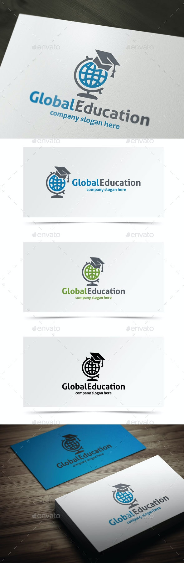 Global Education - College Logo Templates