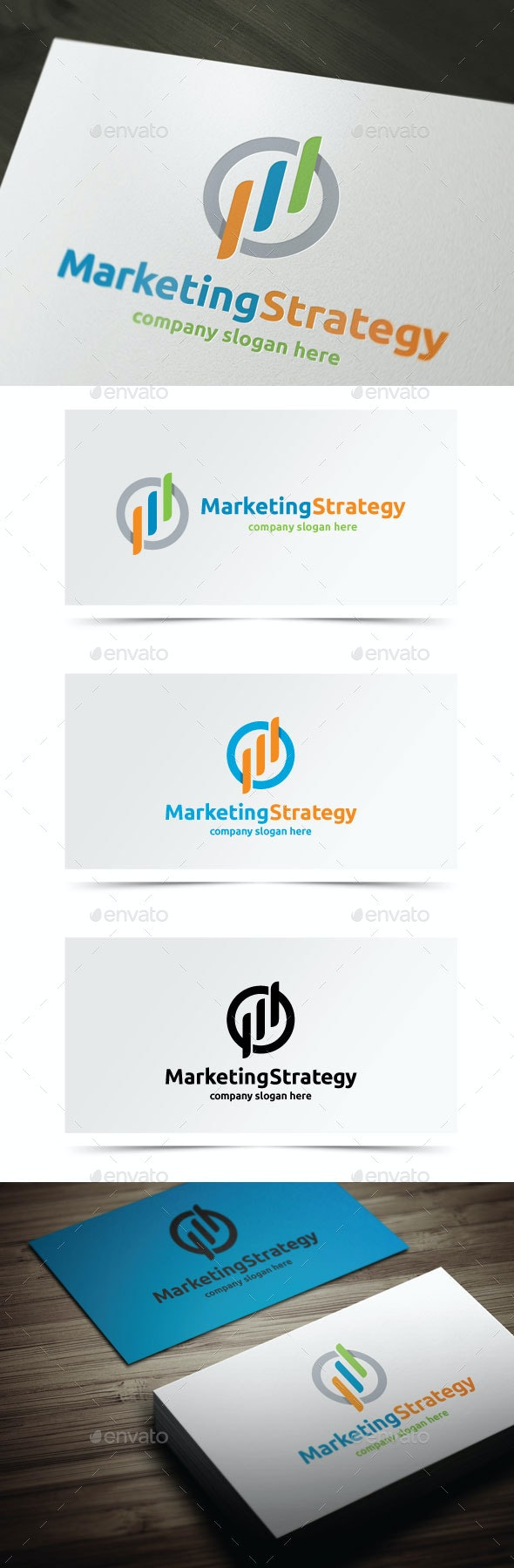 Marketing Strategy  - Symbols Logo Templates
