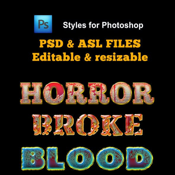 Horror Styles for Photoshop
