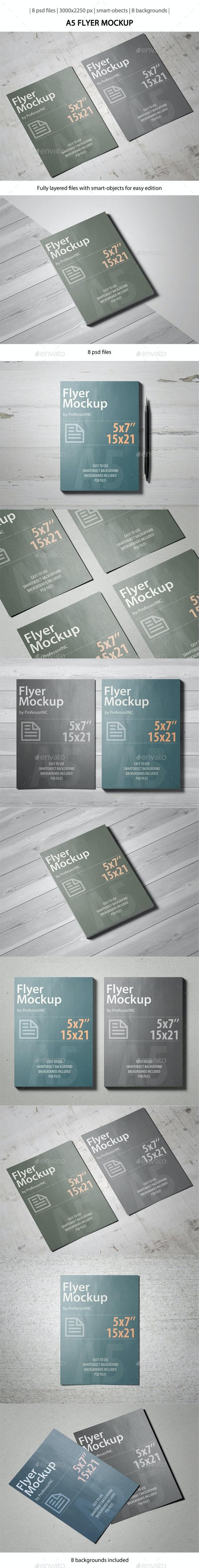 A5 Flyer Mockup - Flyers Print