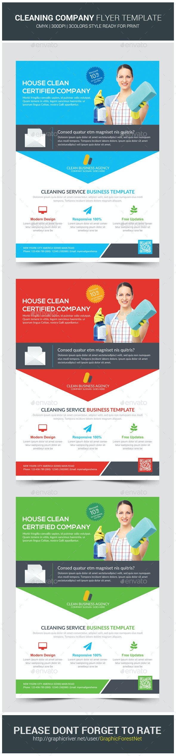 House Cleaning Services Flyer Template - Corporate Flyers