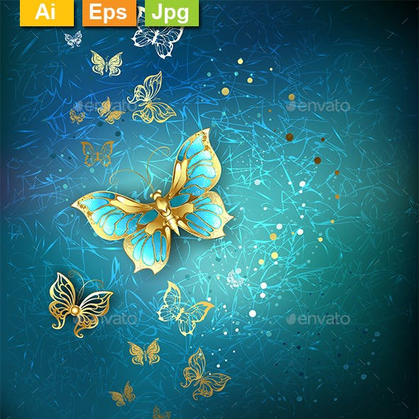 Luxury Gold Butterflies