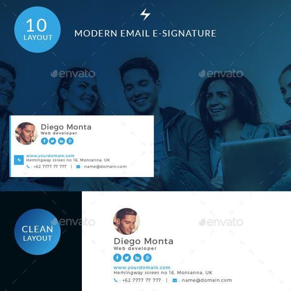 Modern Email E-signature