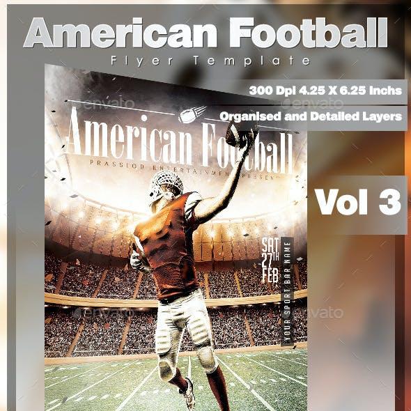American Football Flyer Template Vol 3
