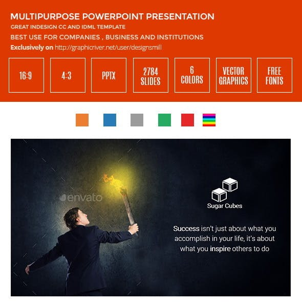 Sugercube PowerPoint Presentation Template
