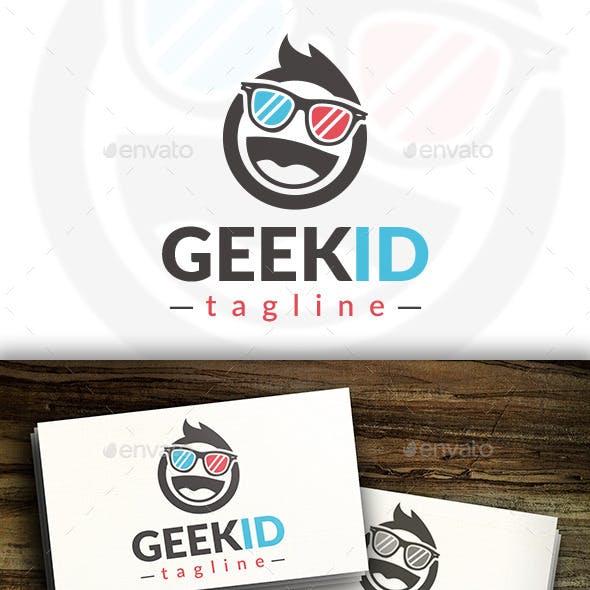 Geek Kid Logo Template