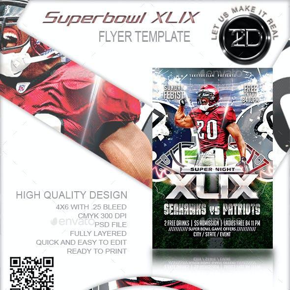 XLIX Football Flyer Template