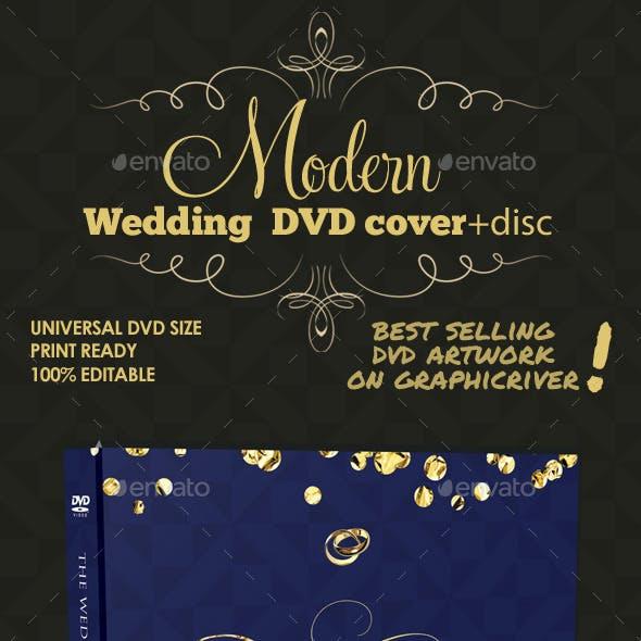 Modern Wedding DVD Cover & Disc Template