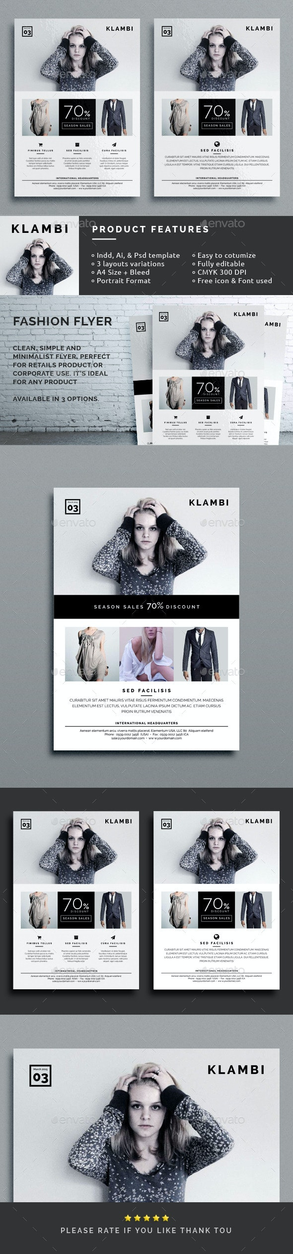 Klambi Fashion Flyer  - Corporate Flyers