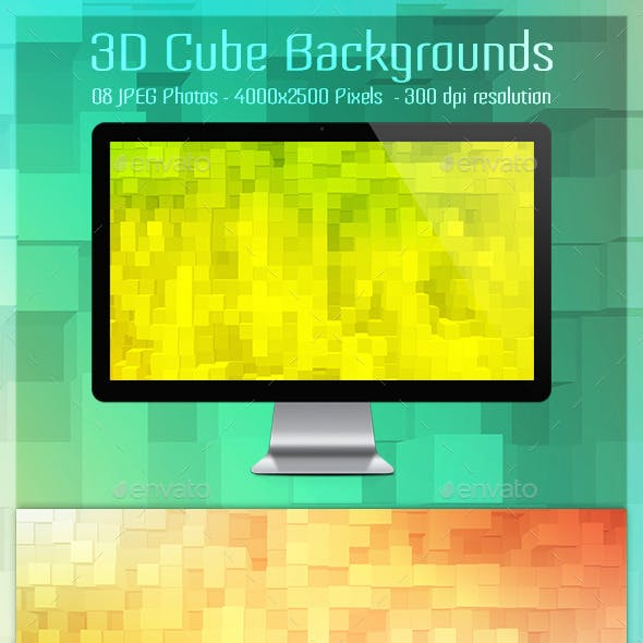 3D Cube Backgrounds