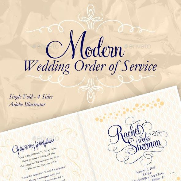 Modern & Elegant Wedding Order of Service