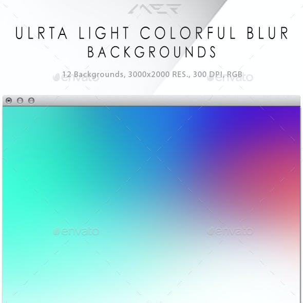 Ultra Light Colorful Blur Backgrounds