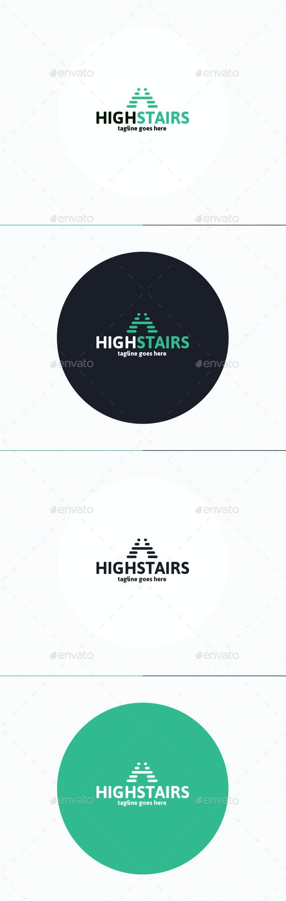 High Stairs Logo • Letter H