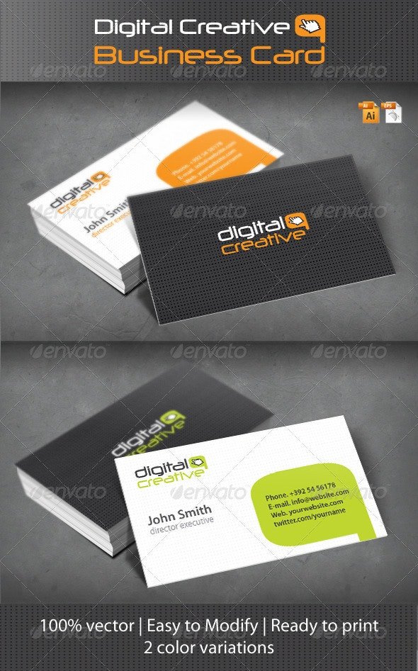 Digital Creative Business Card - Creative Business Cards